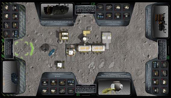 NASA lunar mission multitouch interface